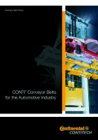 CONTI Conveyor Belts for the Automotive Industry - Preview